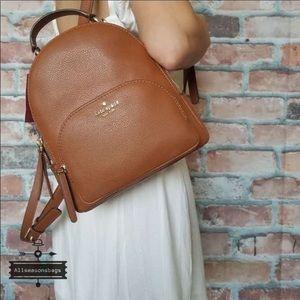Kate spade medium Jackson ginger backpack leather